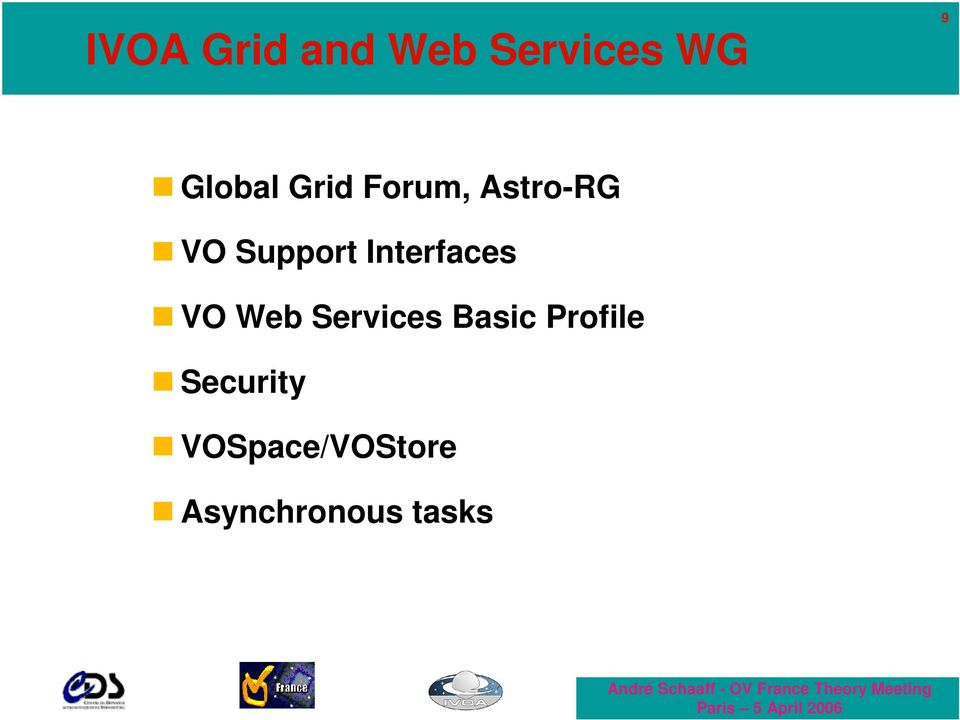Interfaces VO Web Services Basic