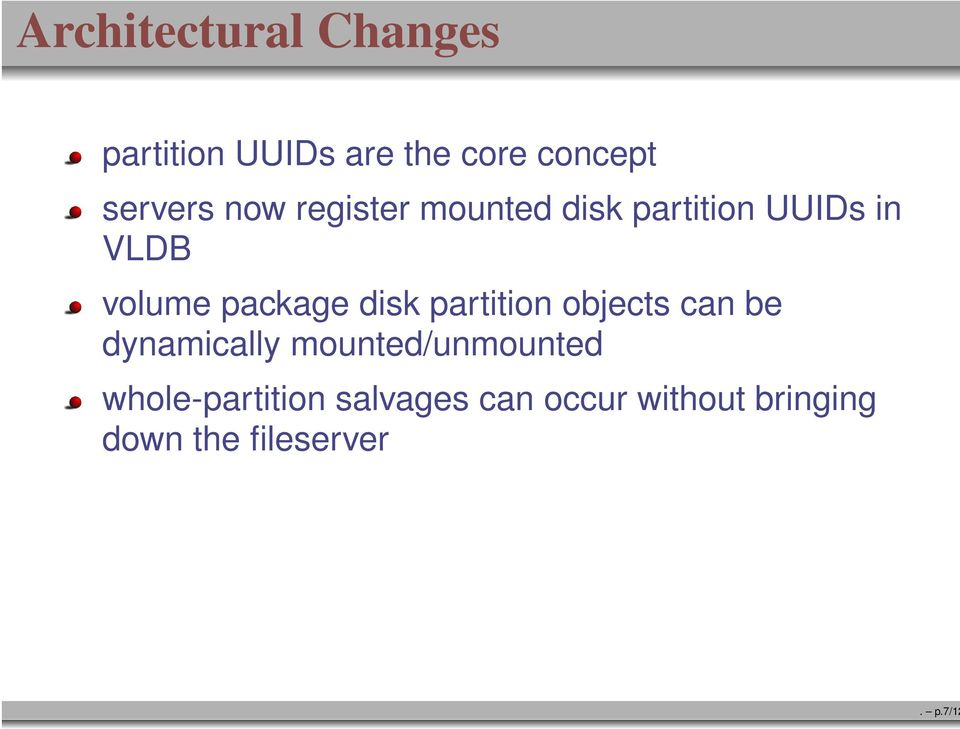 package disk partition objects can be dynamically mounted/unmounted