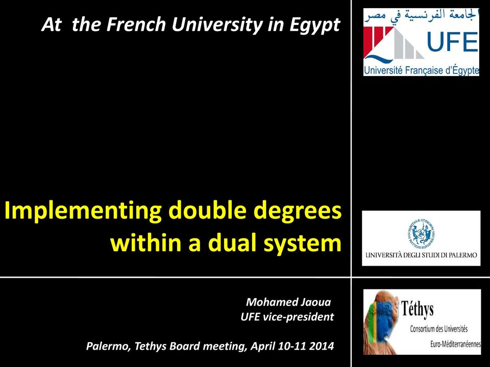 dual system Mohamed Jaoua UFE