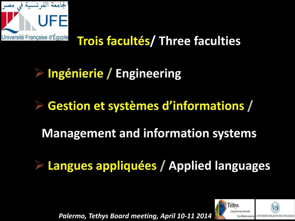 Management and information systems Langues appliquées