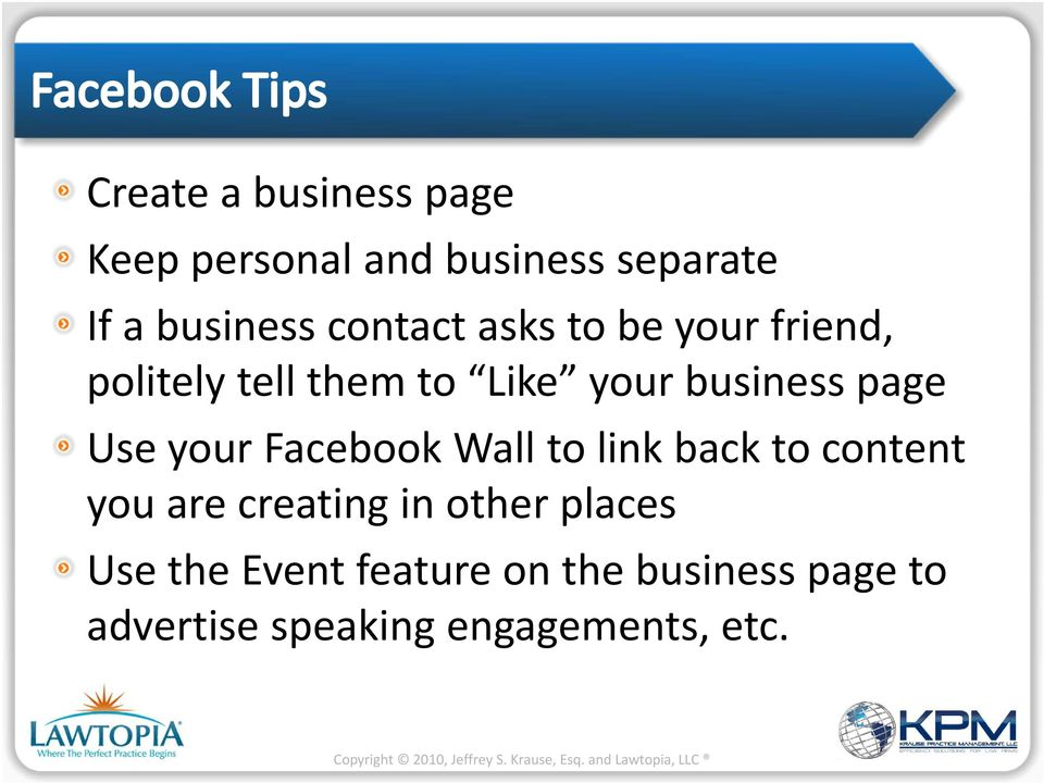 Use your Facebook Wall to link back to content you are creating in other