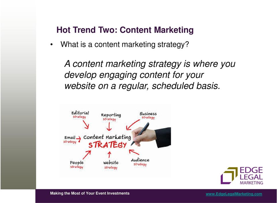 A content marketing strategy is where you