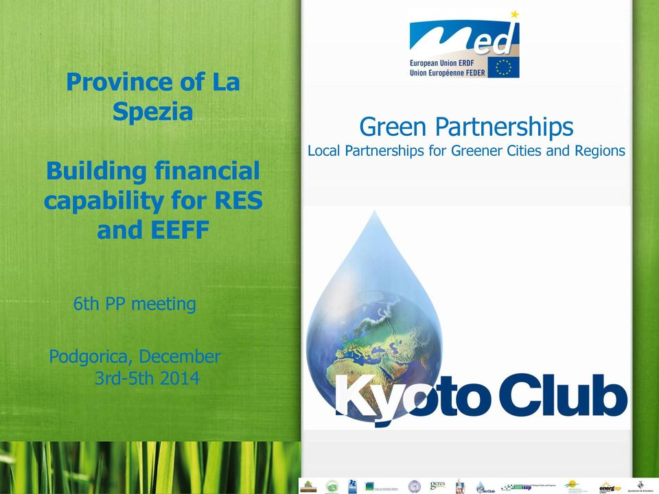 Partnerships for Greener Cities and