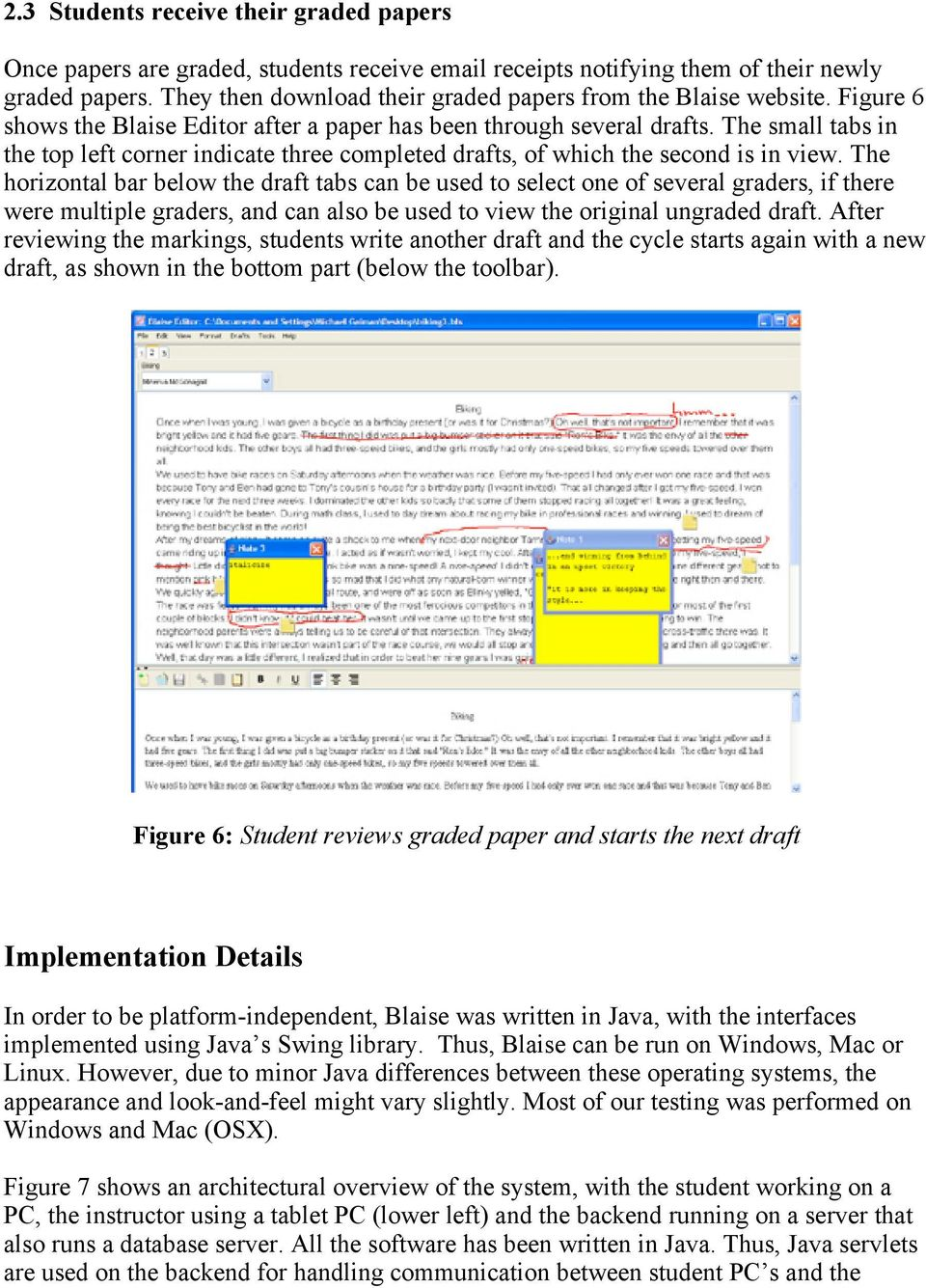 The small tabs in the top left corner indicate three completed drafts, of which the second is in view.