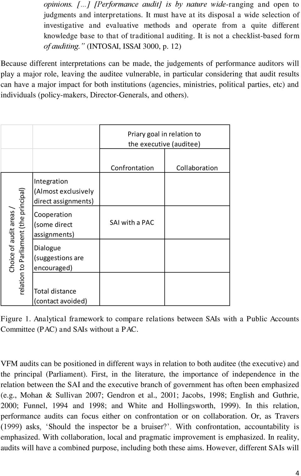 It is not a checklist-based form of auditing. (INTOSAI, ISSAI 3000, p.