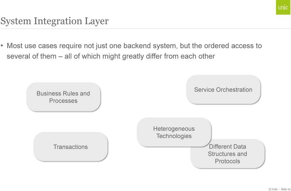 each other Business Rules and Processes Service Orchestration Heterogeneous