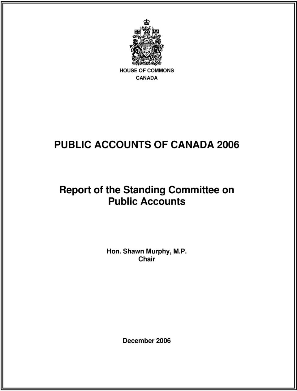 Standing Committee on Public Accounts