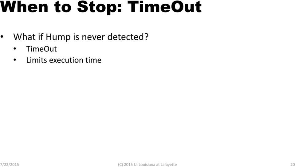 TimeOut Limits execution time