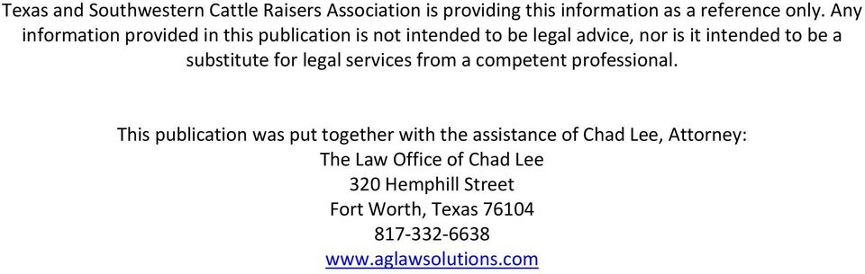 substitute for legal services from a competent professional.