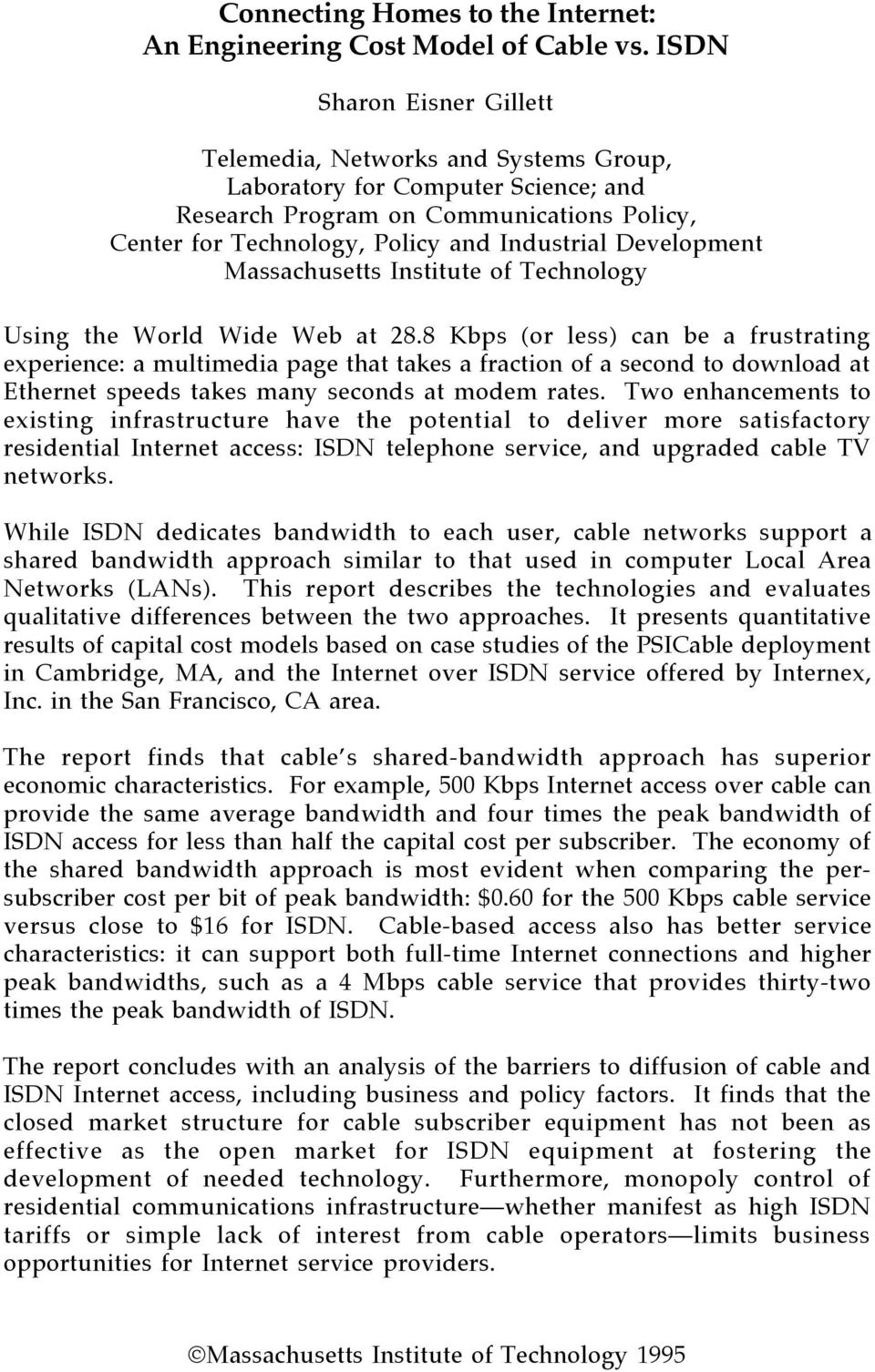 Development Massachusetts Institute of Technology Using the World Wide Web at 28.
