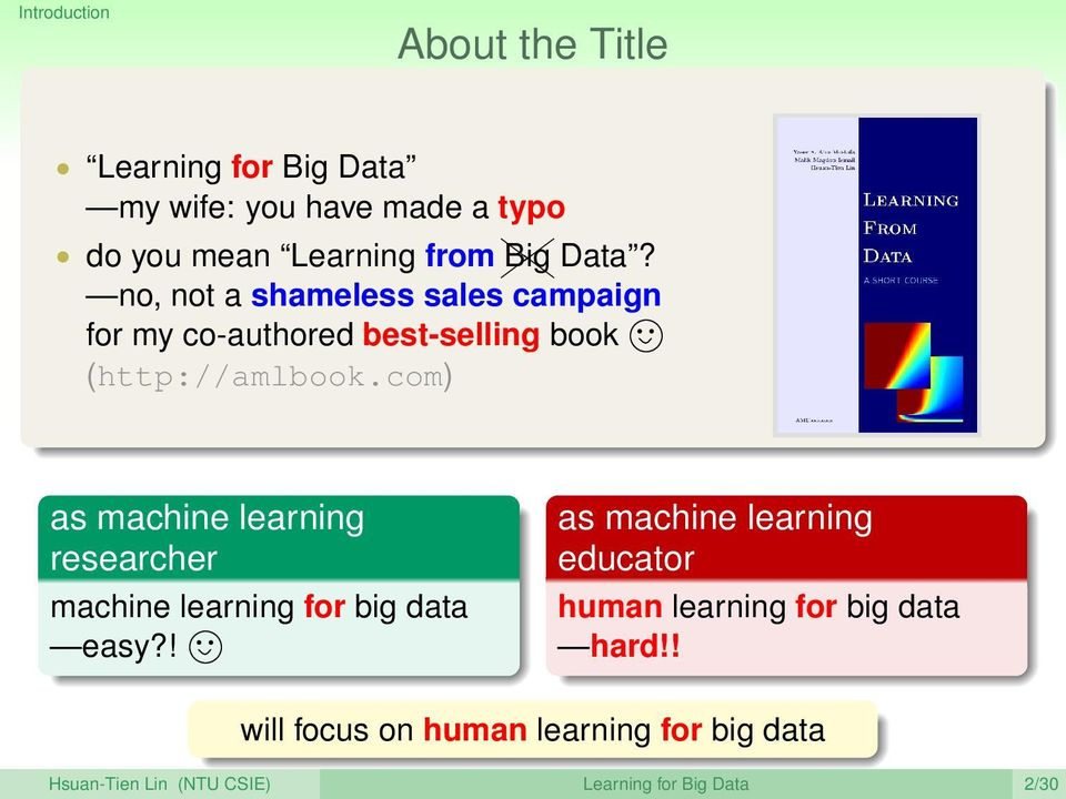 com) as machine learning researcher machine learning for big data easy?