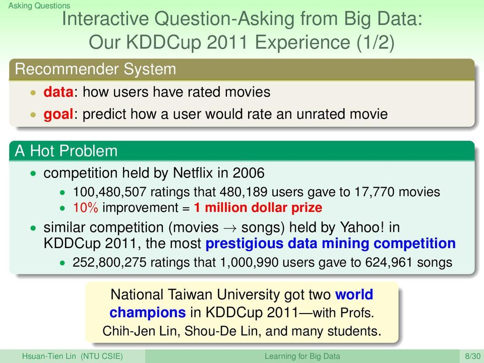 prize similar competition (movies songs) held by Yahoo!