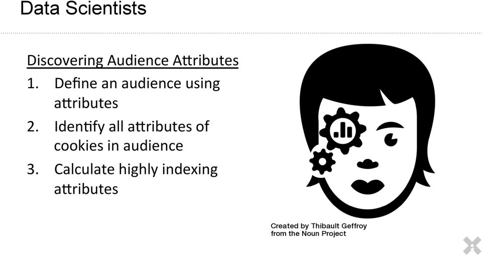 Define an audience using a]ributes 2.