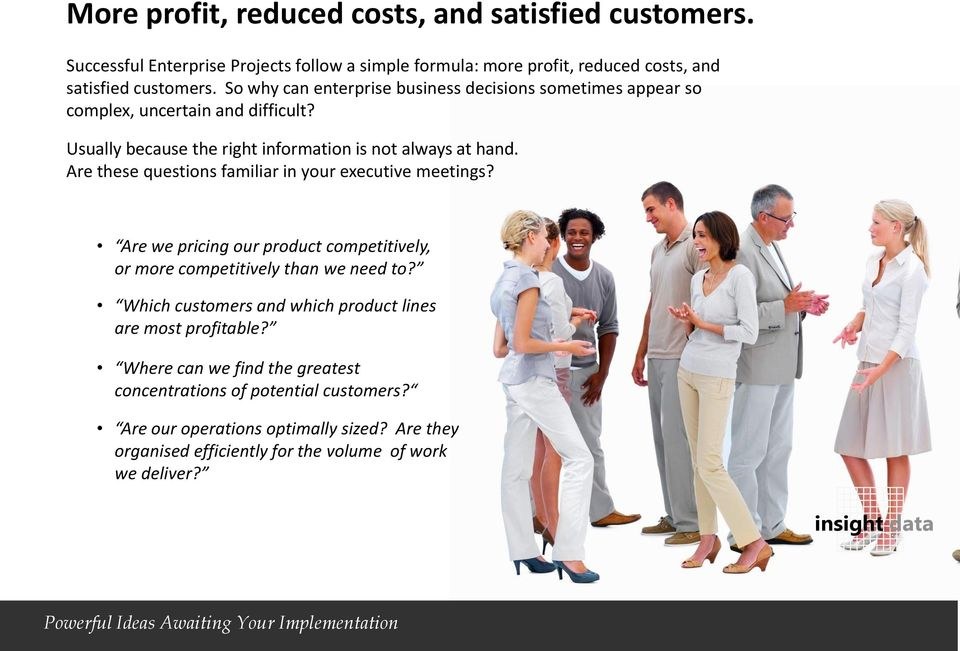 Are these questions familiar in your executive meetings? Are we pricing our product competitively, or more competitively than we need to?
