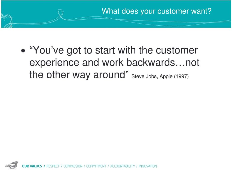 customer experience and work