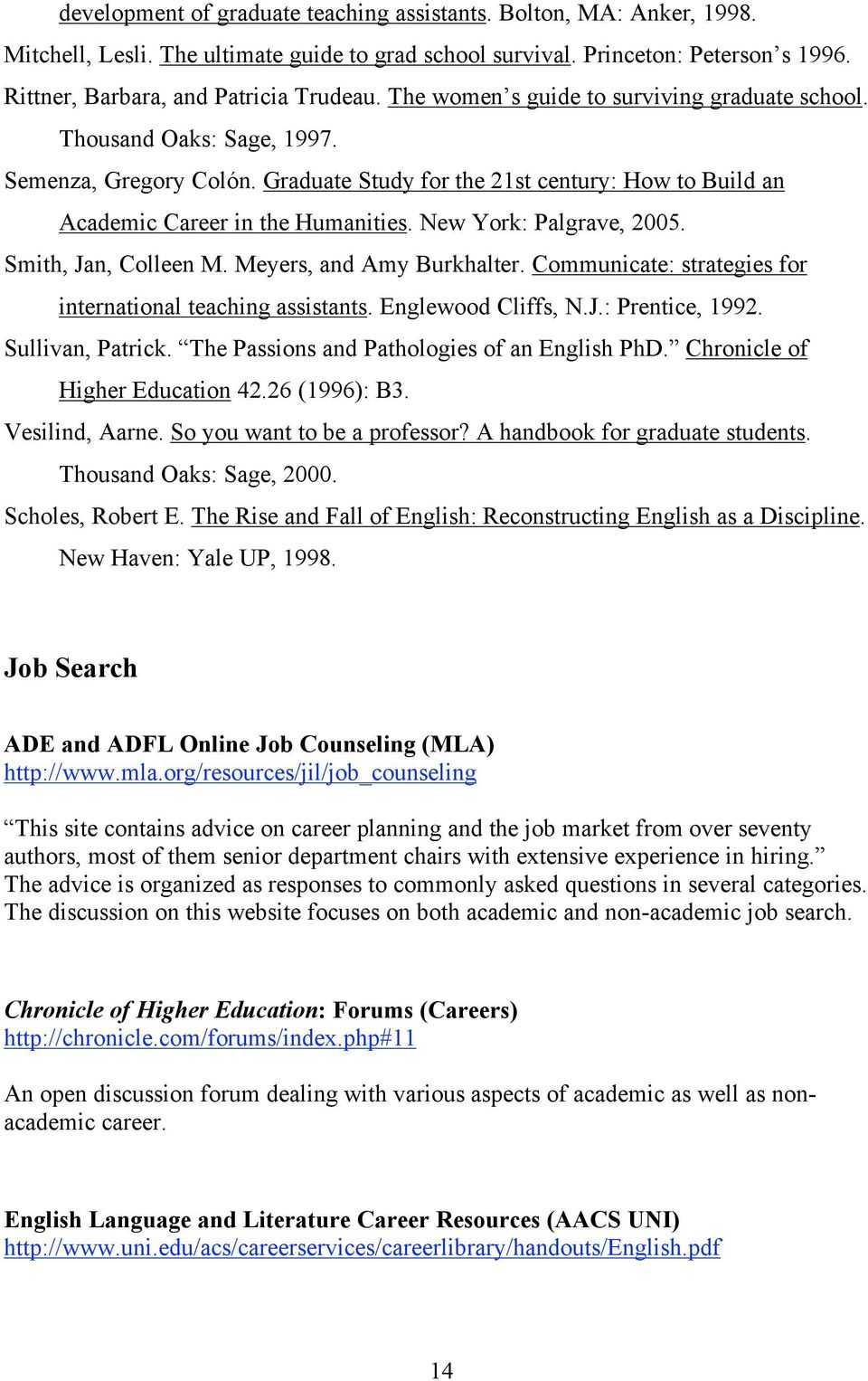 New York: Palgrave, 2005. Smith, Jan, Colleen M. Meyers, and Amy Burkhalter. Communicate: strategies for international teaching assistants. Englewood Cliffs, N.J.: Prentice, 1992. Sullivan, Patrick.