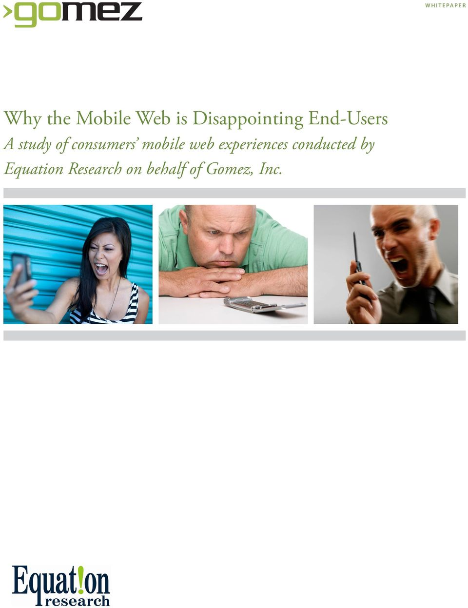consumers mobile web experiences
