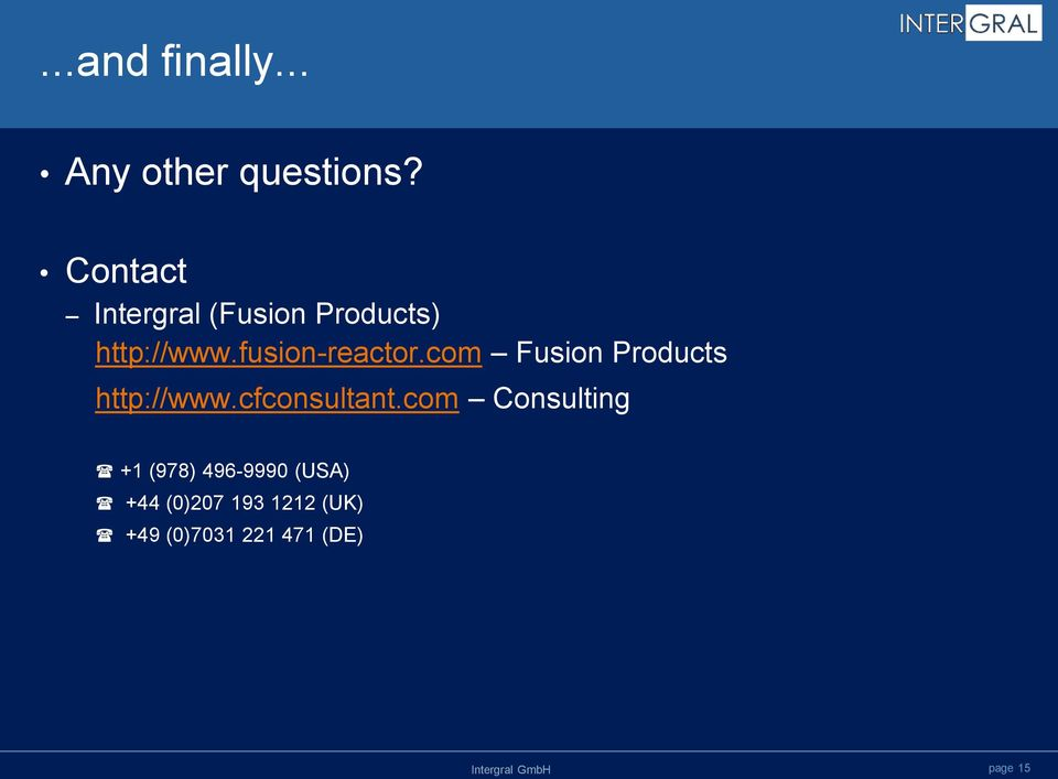 fusion-reactor.com Fusion Products http://www.cfconsultant.