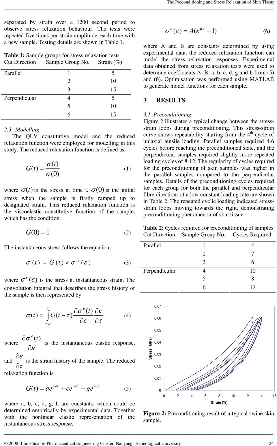 15 4 5 5 1 6 15 2.3. Modelling The QLV constitutive model and the reduced relaxation function were employed for modelling in this study.