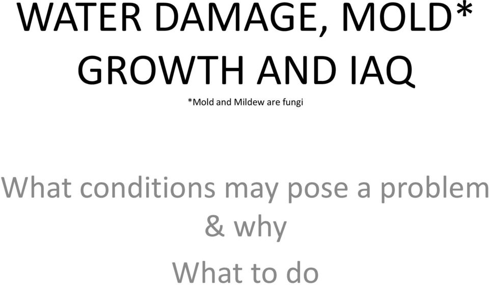 fungi What conditions may