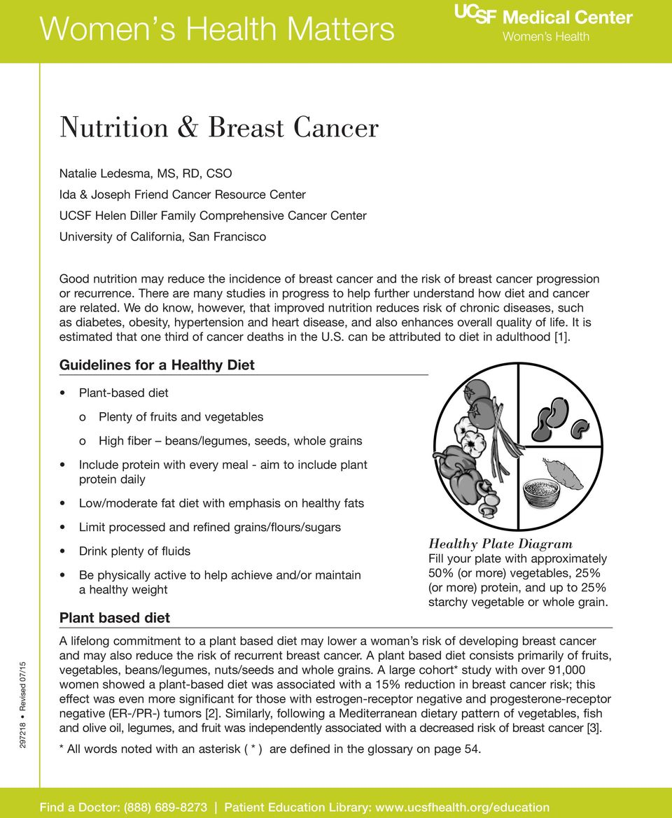 There are many studies in prgress t help further understand hw diet and cancer are related.