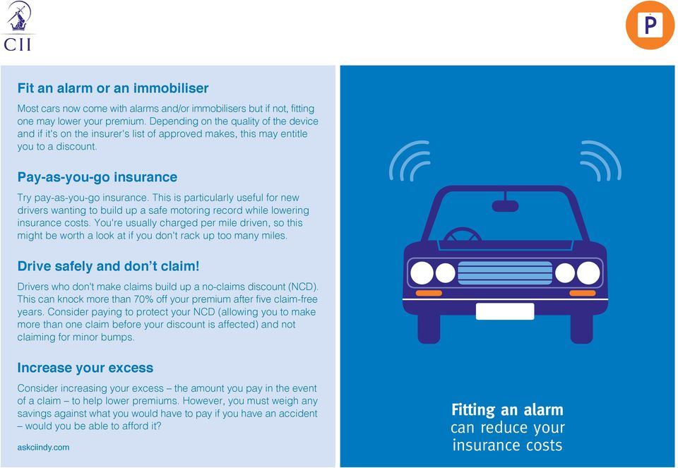 This is particularly useful for new drivers wanting to build up a safe motoring record while lowering insurance costs.