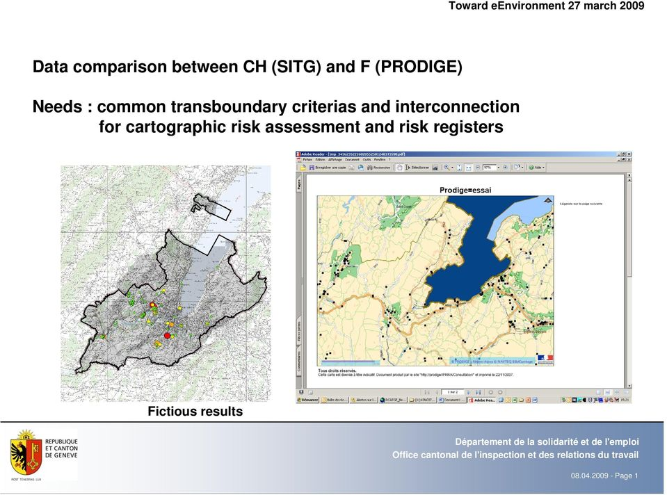 transboundary criterias and interconnection for cartographic
