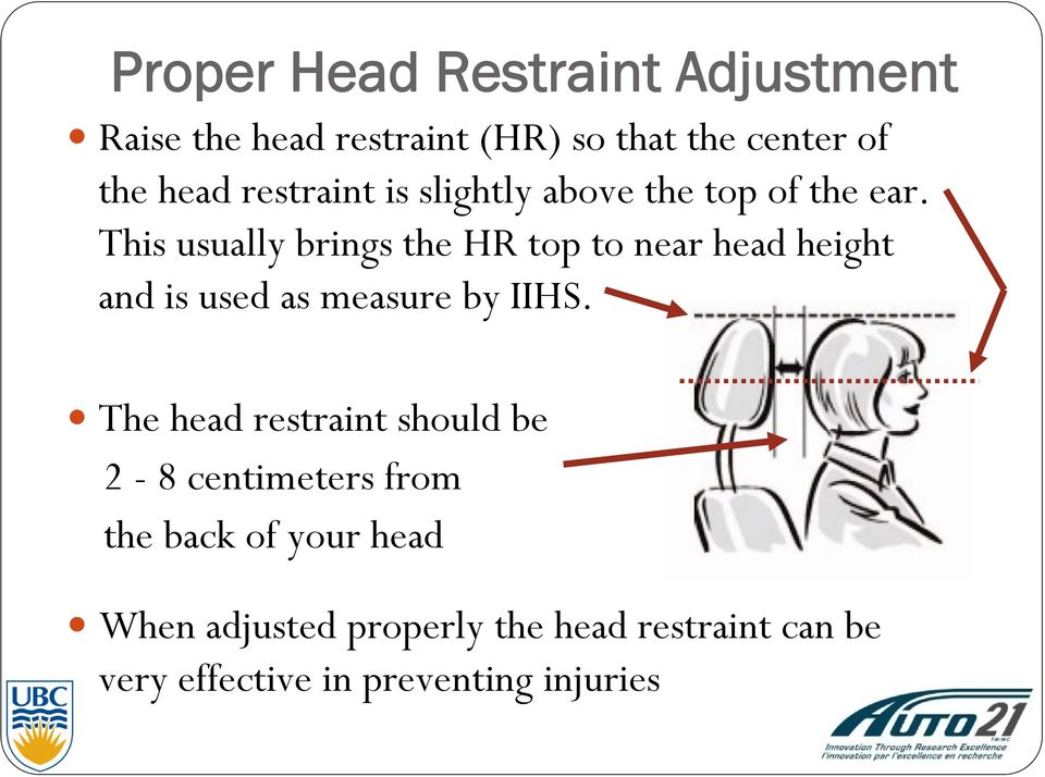 This usually brings the HR top to near head height and is used as measure by IIHS.