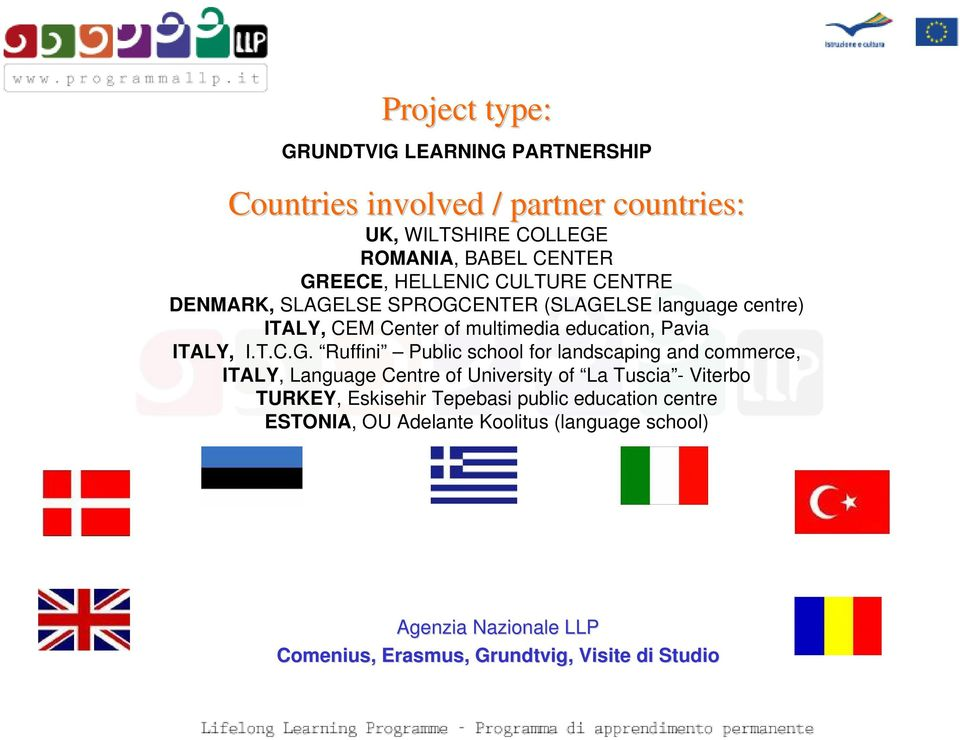 multimedia education, Pavia ITALY, I.T.C.G.