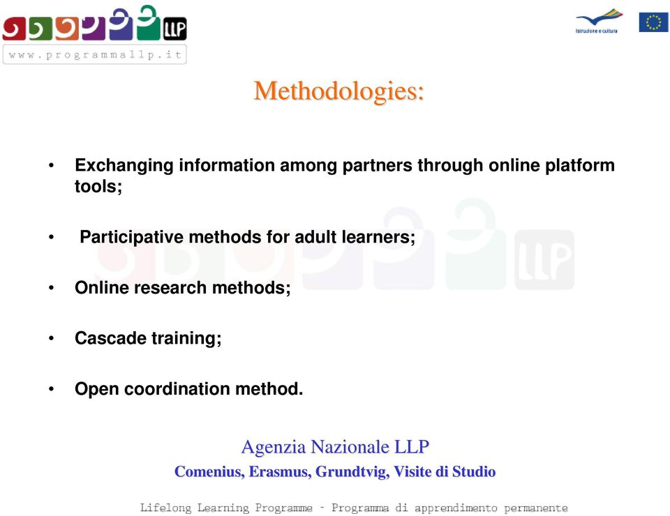 Participative methods for adult learners; Online