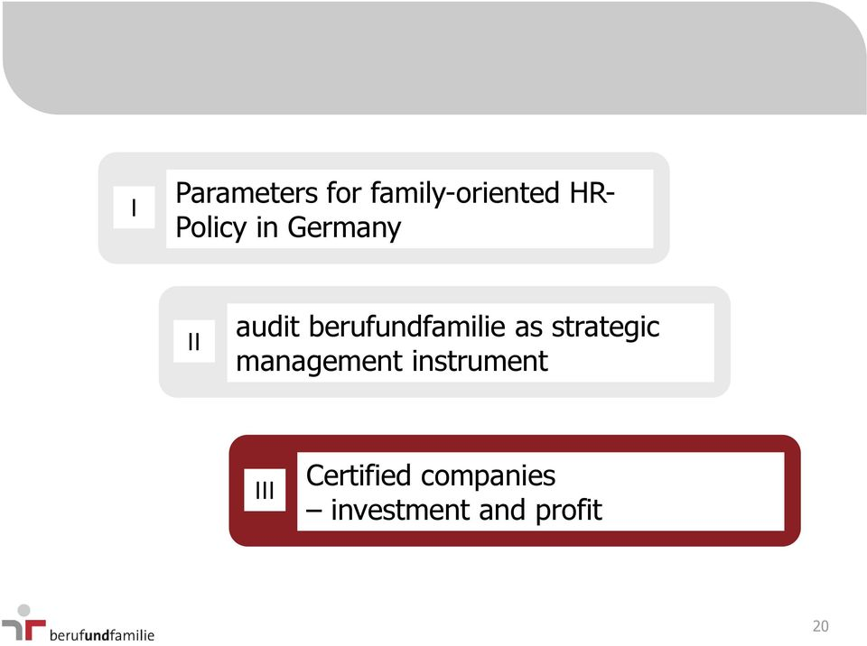 berufundfamilie as strategic management