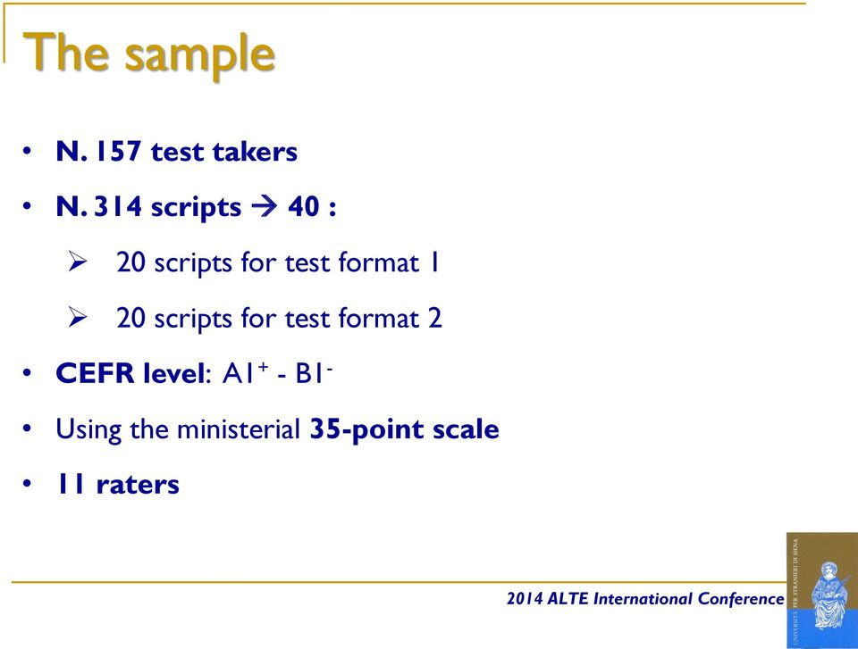 1 20 scripts for test format 2 CEFR level: