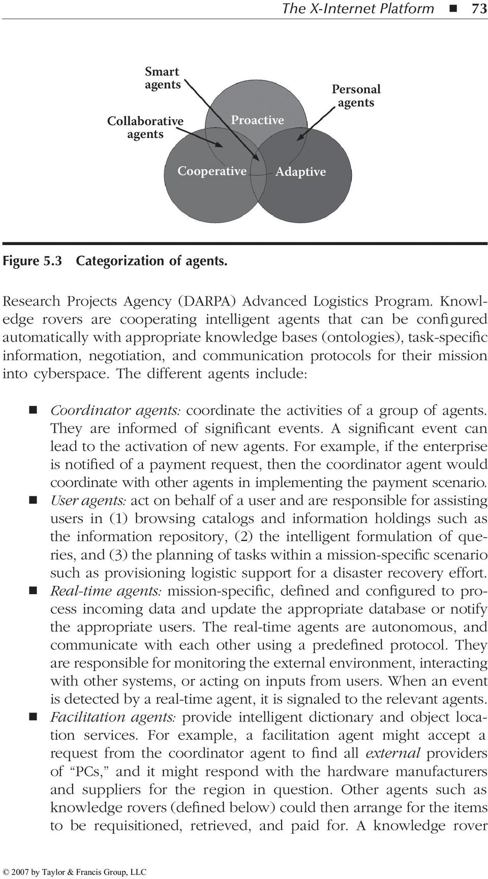 Knowledge rovers are cooperating intelligent agents that can be configured automatically with appropriate knowledge bases (ontologies), task-specific information, negotiation, and communication