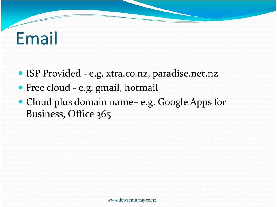 gmail, hotmail Cloud plus domain name