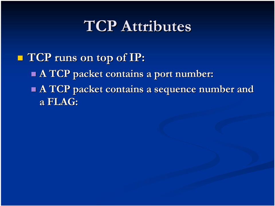 port number: A TCP packet