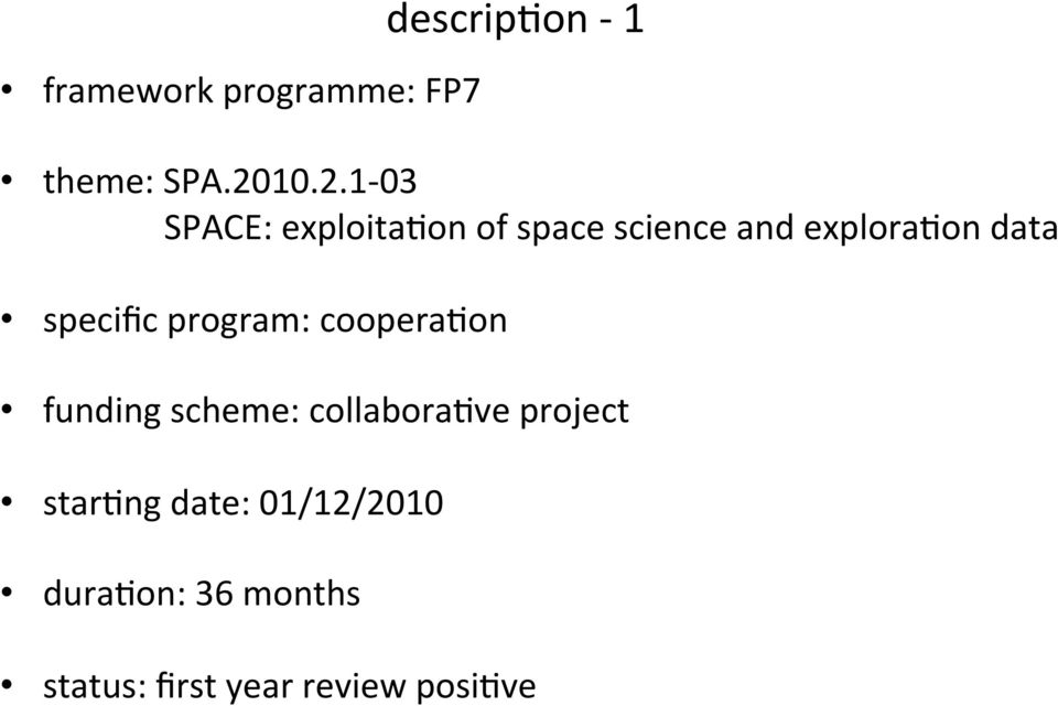 specific program: coopera8on funding scheme: collabora8ve project