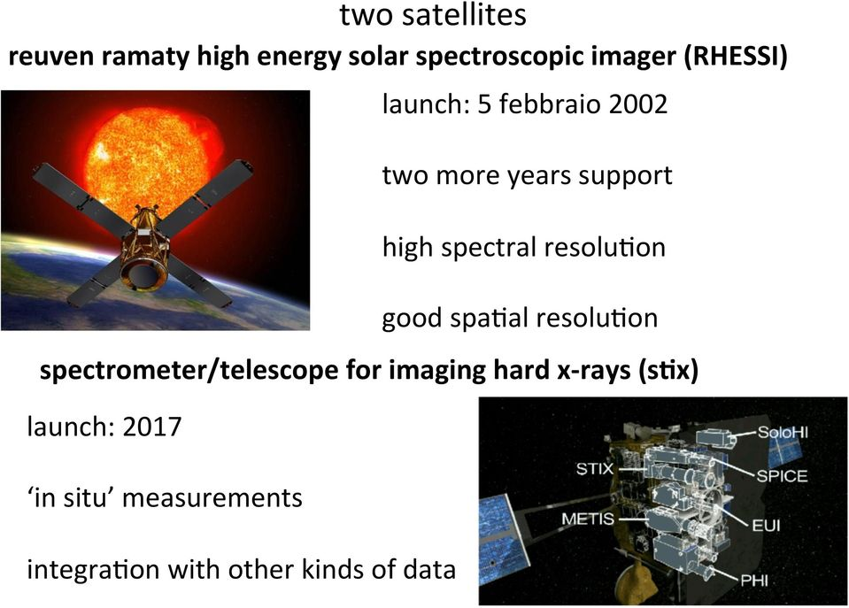 data launch: 5 febbraio 2002 two more years support high spectral