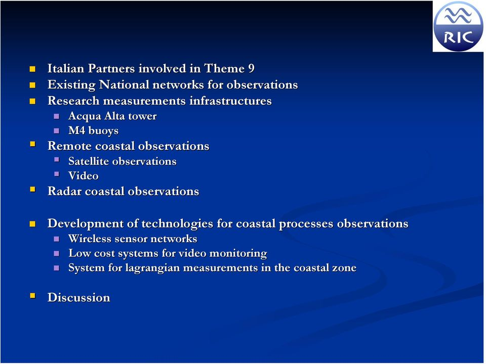 coastal observations Development of technologies for coastal processes observations Wireless sensor