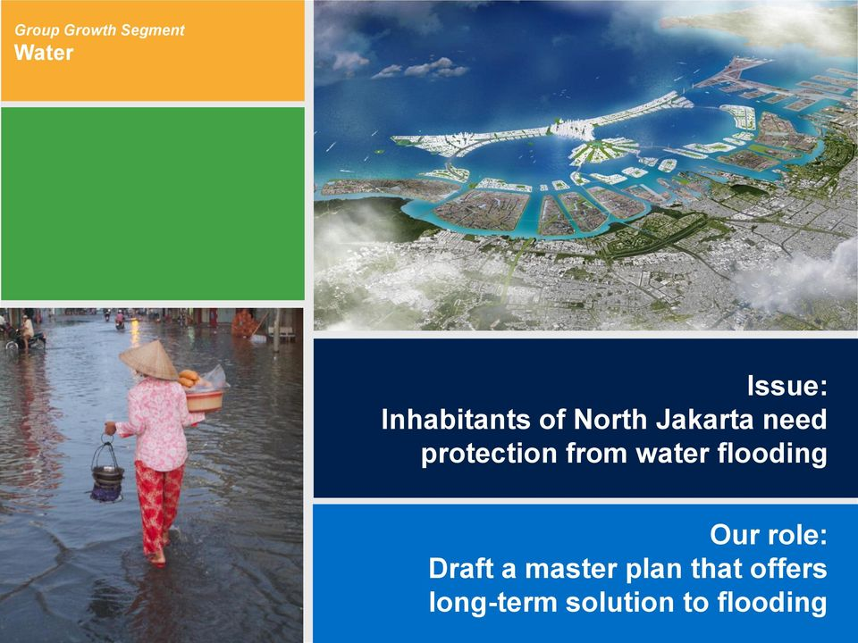 protection from water flooding Our role: