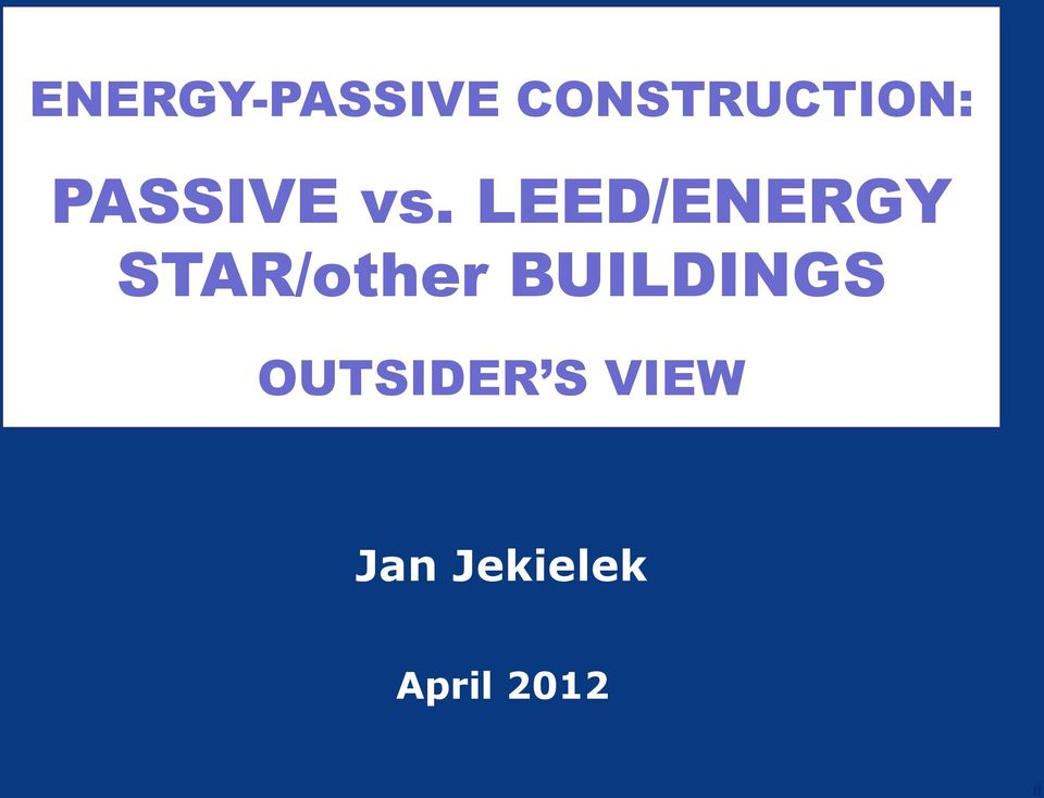 LEED/ENERGY STAR/other