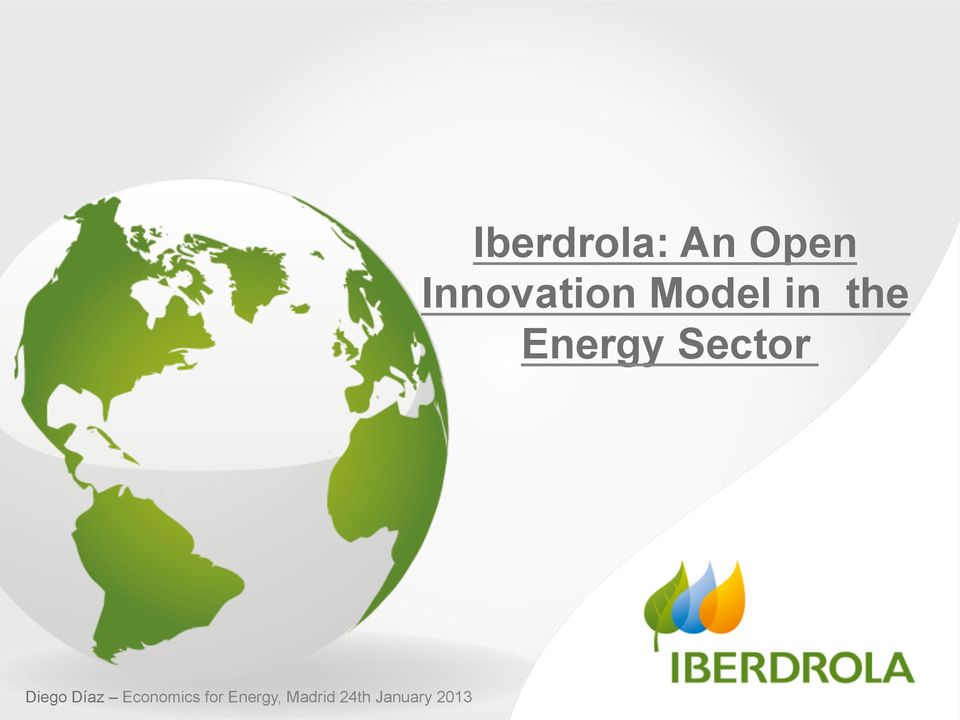2013 Iberdrola: An Open