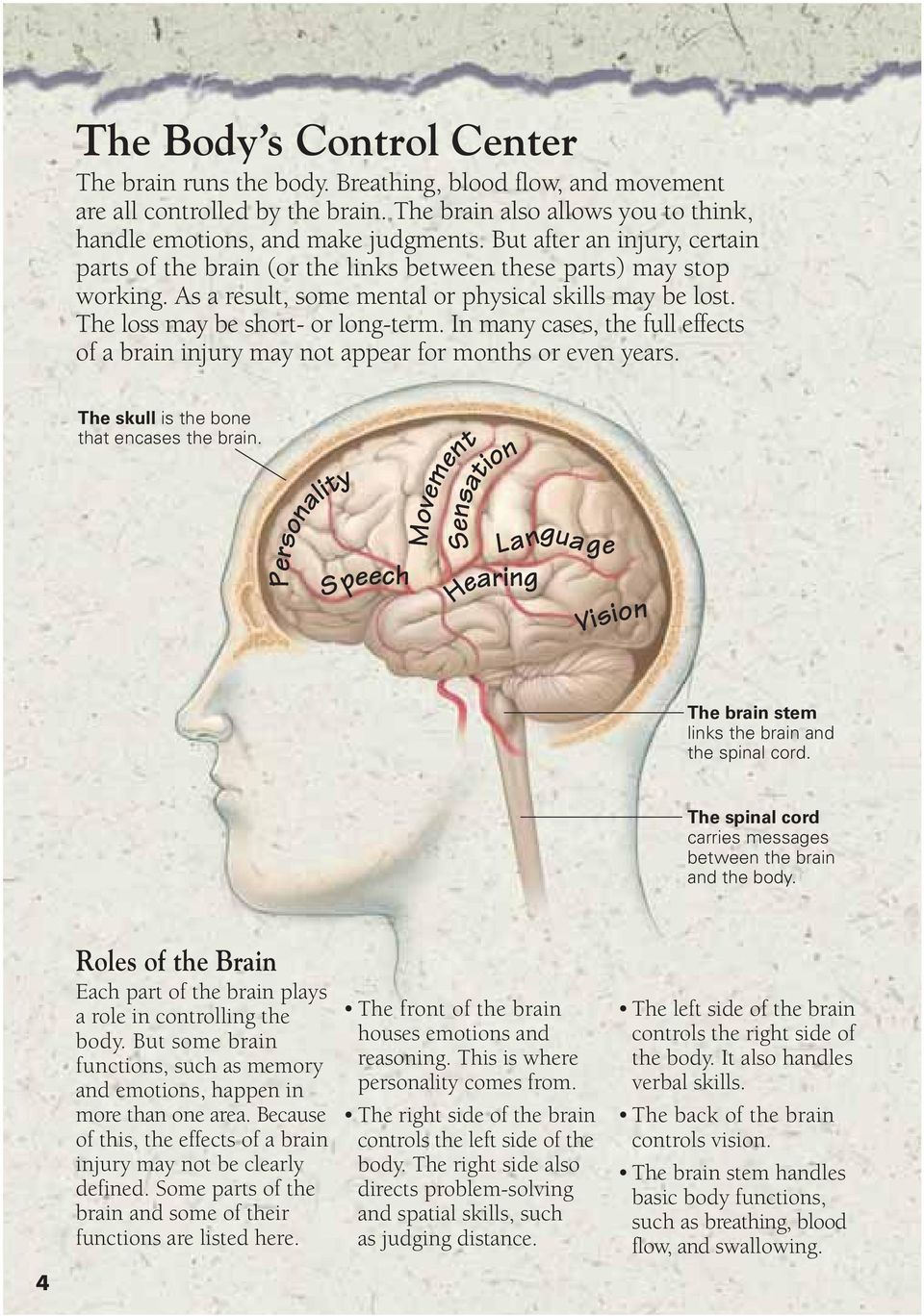 In many cases, the full effects of a brain injury may not appear for months or even years. The skull is the bone that encases the brain.