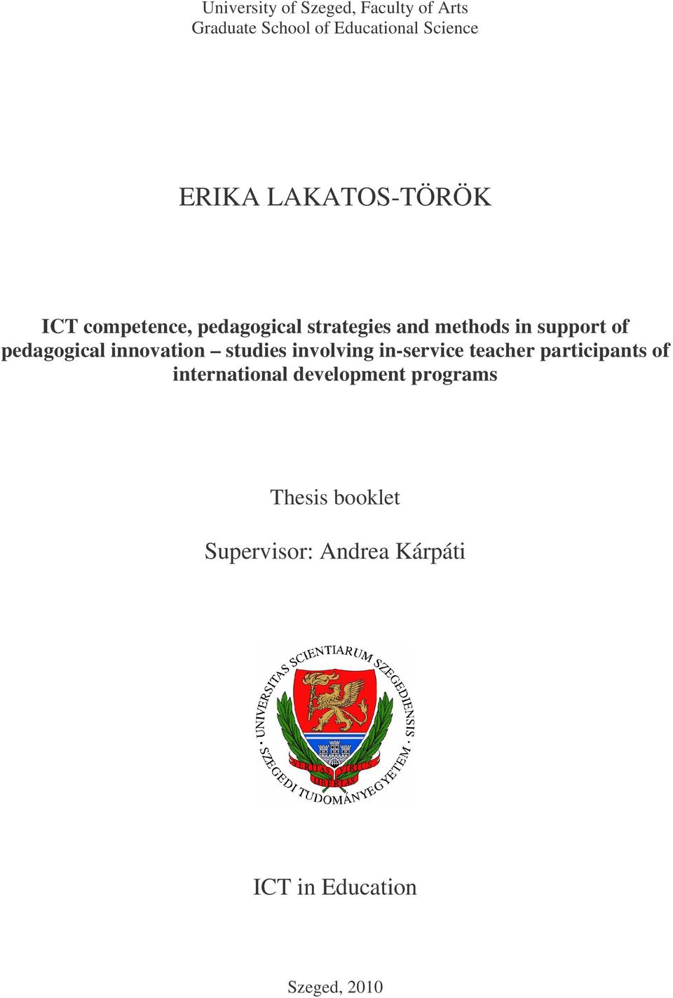 pedagogical innovation studies involving in-service teacher participants of
