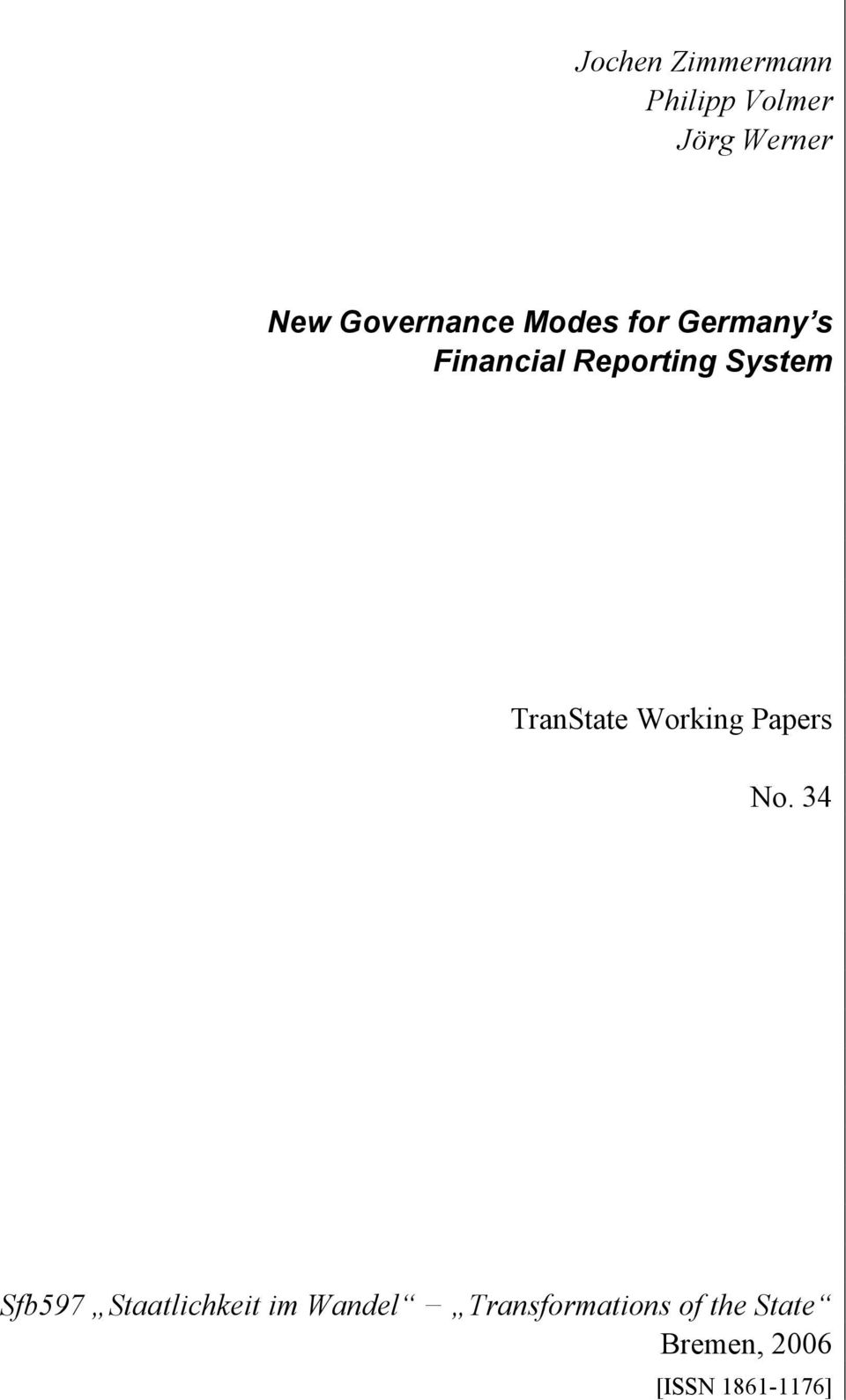 System TranState Working Papers No.