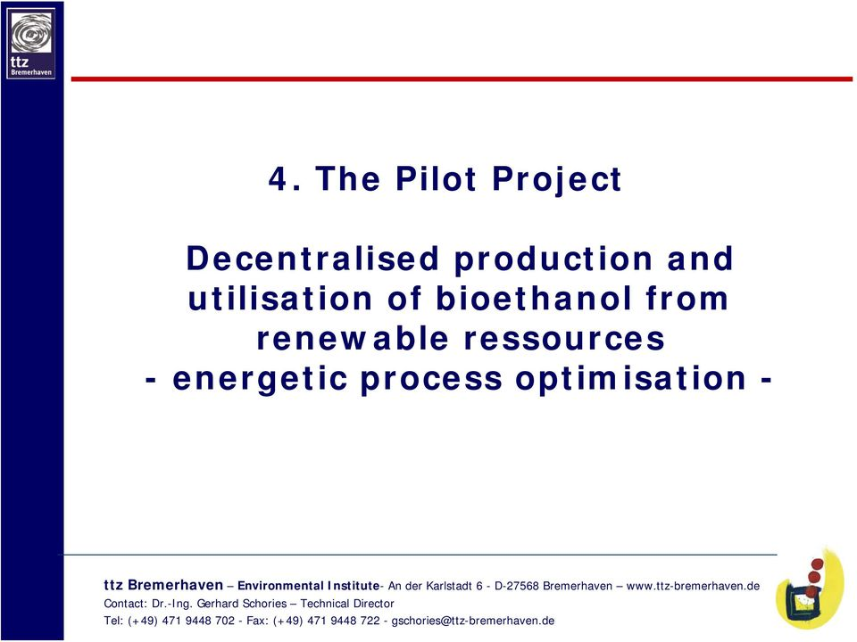 utilisation of bioethanol from