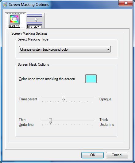 21. Using Screen Masking In this section you will learn how to: use Screen Masking change the Screen Masking options use the spotlight option.