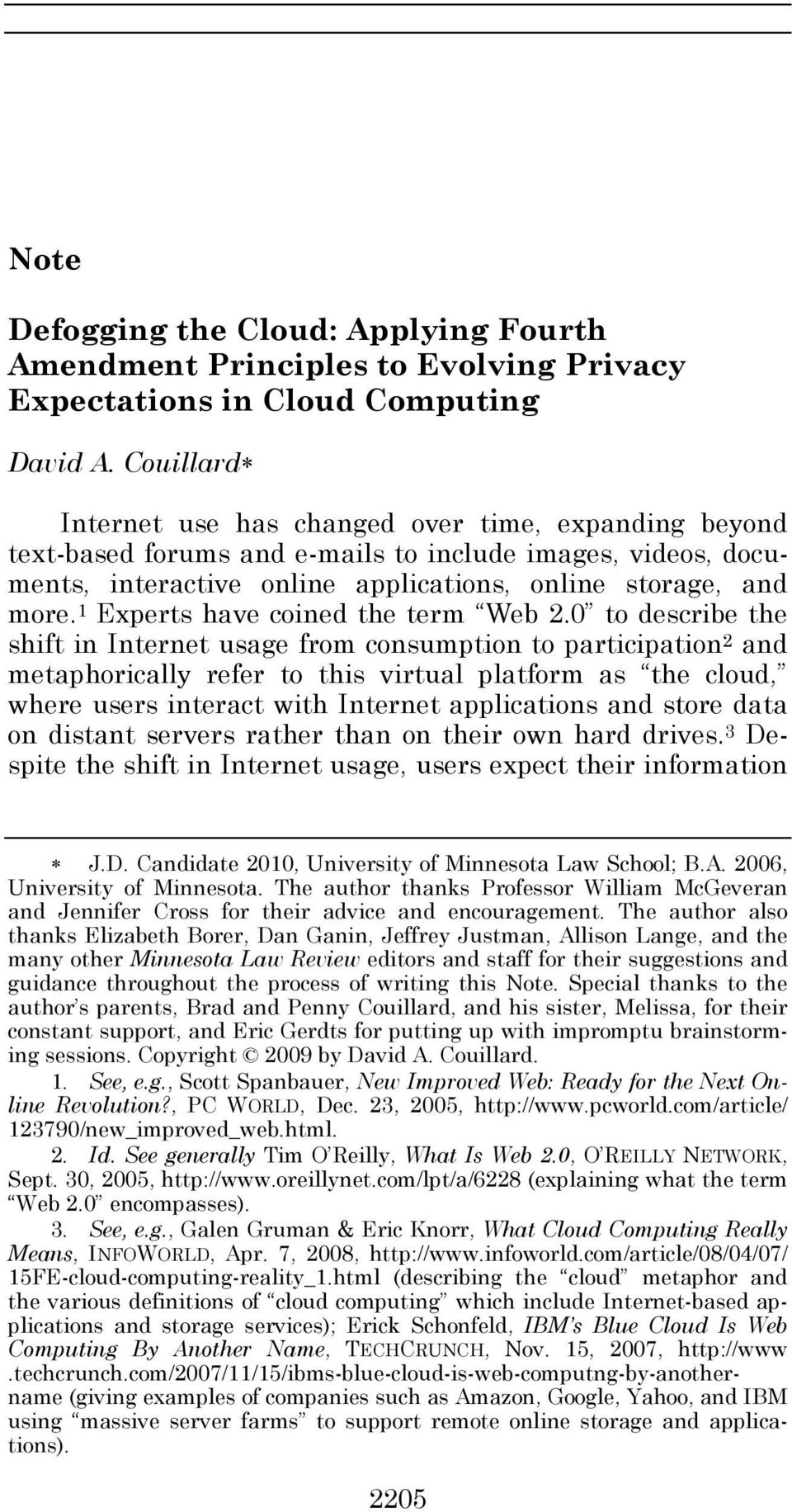 1 Experts have coined the term Web 2.