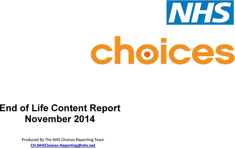 The NHS Choices Reporting