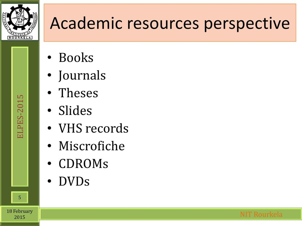Journals Theses Slides
