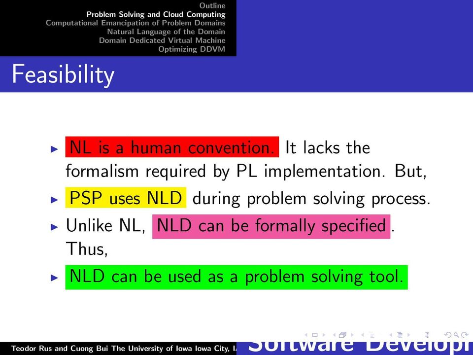 But, PSP uses NLD during problem solving process.